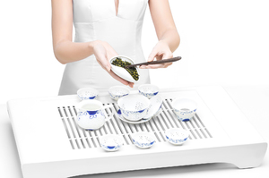 Rice Grain Tea Set For Gongfu Tea Ceremony