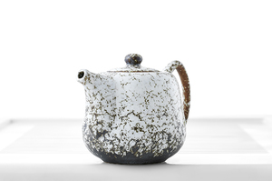 Grey And White Mottled Tall Teapot